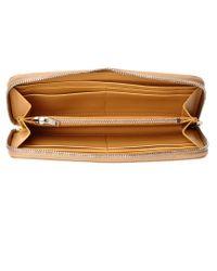 Sophie Hulme Rosebery Metallic Leather Continental Wallet