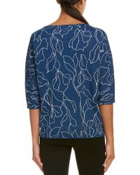 Lafayette 148 New York Blue Sweater