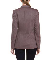 Lafayette 148 New York Red Hannah Merlot Wool & Silk Jacket