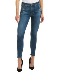 AG Jeans Blue The Mila 8 Years Infamy Super High-rise Skinny Ankle Cut