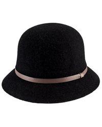 San Diego Hat Company Black Knit Wool-blend Cloche