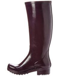 Aigle Purple Brillantine Rain Boot