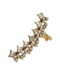Sparkling Sage - Metallic 14k Plated Crystal Earring Climber - Lyst
