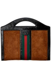 Gucci - Brown Ophidia Medium Top Handle Tote - Lyst