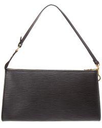 Louis Vuitton - Black Noir Epi Leather Pochette Accessoires - Lyst