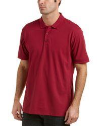 Robert Graham Purple Clock Tower Classic Fit Polo Shirt for men