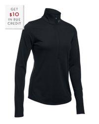 Under Armour - Black Women's Threadborne Streaker Half Zip With $10 Rue Credit - Lyst