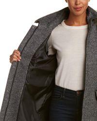 SOIA & KYO - Gray Alanna Classic Wool-blend Coat - Lyst