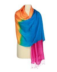 Saachi Blue Summer Ombre Pashmina