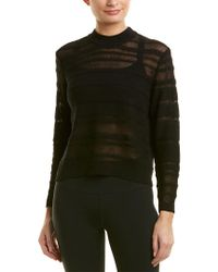 New Balance Black Sheer Linen-blend Studio Sweater