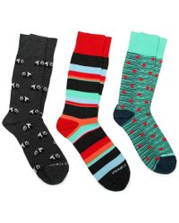 Unsimply Stitched Multicolor 3-pack Socks