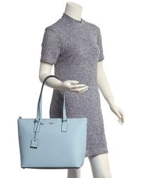 Kate Spade Blue Cameron Street Leather Lucy Tote