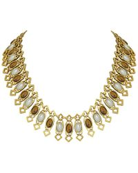House of Harlow 1960 - Metallic 1960 14k Plated Collar Necklace - Lyst