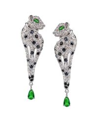 CZ by Kenneth Jay Lane Multicolor Plated Drop Earrings