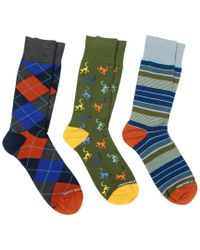 Unsimply Stitched Green 3-pack Socks for men