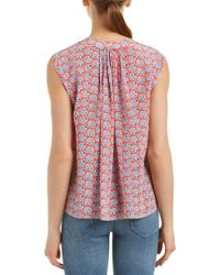 Rebecca Taylor - Pink Amanda Print Silk Top - Lyst