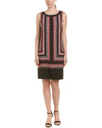 Vince Camuto - Black Shift Dress - Lyst
