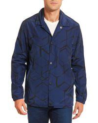 Robert Graham Blue Soren Woven Tailored Fit Outerwear for men