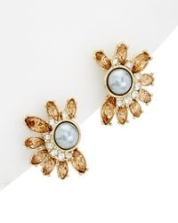 Carolee Metallic West Side 12k Plated Earrings
