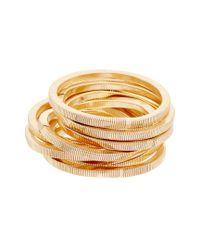 Kenneth Jay Lane - Metallic Plated Stretch Bracelet Set - Lyst