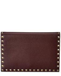 Valentino Purple Rockstud Small Double Handle Tote Bag