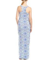 Tori Richard Blue Maxi Dress