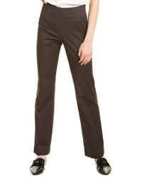 NIC+ZOE Brown Polished Stretch Side Zip Pant