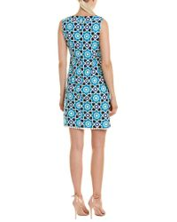 Trina Turk Blue Mojave Shift Dress