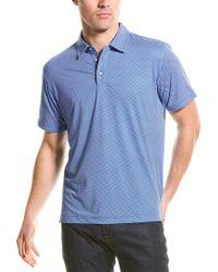 Robert Graham Blue Retutemann Knit Polo Shirt for men