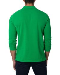 Jared Lang Green Semi-fitted Knit Polo for men