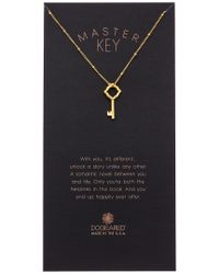 Dogeared - Metallic Halo Collection Master Key 14k Over Silver Necklace - Lyst