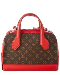 Louis Vuitton Red Monogram Canvas Dora Pm