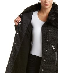 Karen Millen Black Quilted Coat