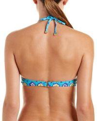 Trina Turk Blue Corsica Halter Bikini Top