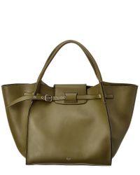 Céline Green Medium Big Bag Leather Tote