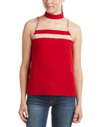 Cami NYC - Red Haylie Silk Halter Top - Lyst