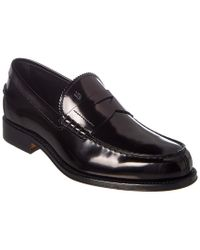 Tod's Black Classic Leather Loafer for men