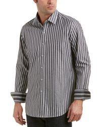Robert Graham Black Tritonville Classic Woven Shirt for men