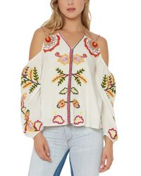 Red Carter Multicolor Cabana Top