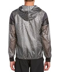 PUMA Multicolor Lite Dark Shadow Print Windbreaker for men
