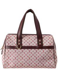 Louis Vuitton Multicolor Pink Monogram Mini Lin Canvas Josephine Gm