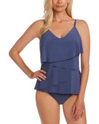 Magicsuitr Blue Rita Tankini Top