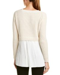 French Connection White Taurus Knits Sweater