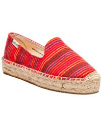 Soludos Red Coco Platform Smoking Slipper