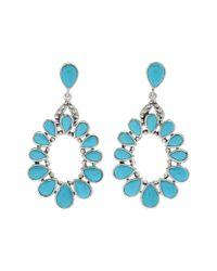 Samuel B. Blue 18k & Silver 5.72 Ct. Tw. Sleeping Beauty Turquoise Drop Earrings