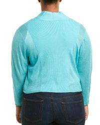 NIC+ZOE - Blue Linen-blend Cardigan - Lyst
