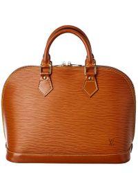 Louis Vuitton Brown Epi Leather Alma Pm