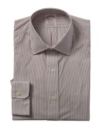 Brooks Brothers Gray 1818 Madison Fit Dress Shirt for men