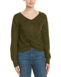 Sage the Label Green Twisted Sweater