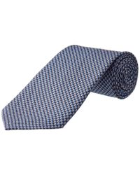 Ferragamo Blue Navy Knot Silk Tie for men
